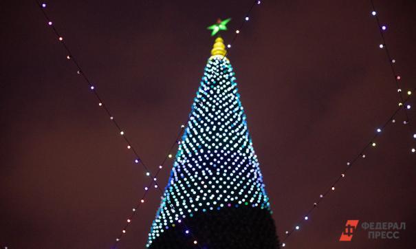 В центре Екатеринбурга началось возведение новогодней елки