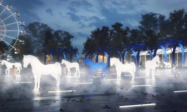 В парке планировали установить композицию под названием «Кони в тумане»