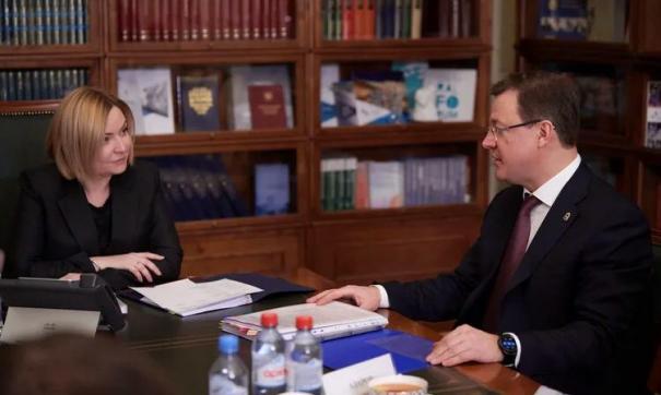 Дмитрий Азаров и Ольга Любимова обсудили проекты в сфере культуры