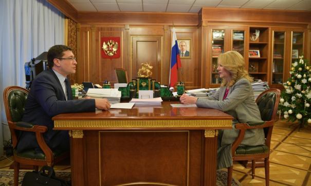 Татьяна Голикова и Глеб Никитин обсудили кампанию по вакцинации