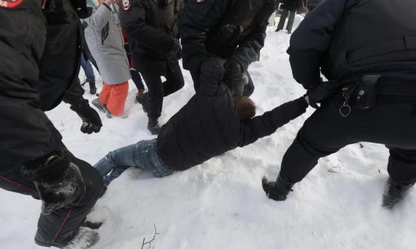 Акция в поддержку Навального в Екатеринбурге