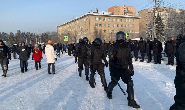 Полиция пыталась остановить движение участников акции