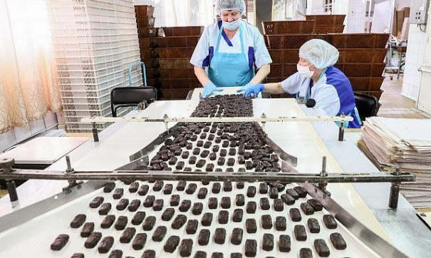 Производство конфет на фабрике