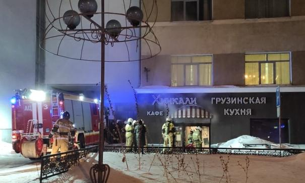 В уральской столице загорелось кафе на первом этаже университета