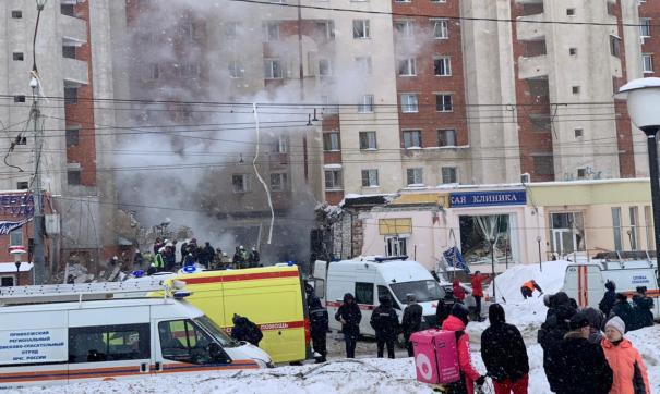 Жилой дом на Мещерском бульваре пострадал от взрыва утром 26 февраля