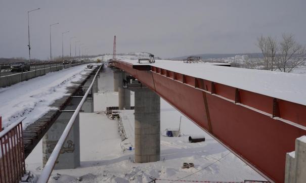 Строители закончили один из этапов строительства моста через Сок