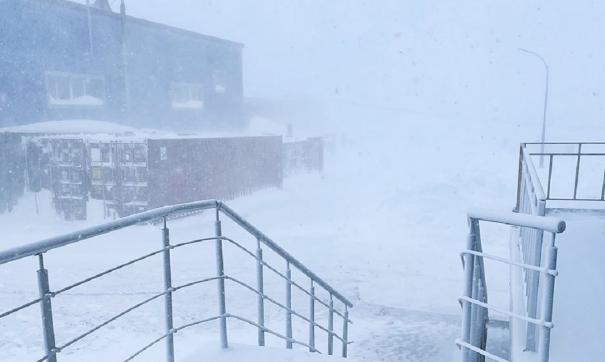 На Дальний Восток обрушился снежный циклон