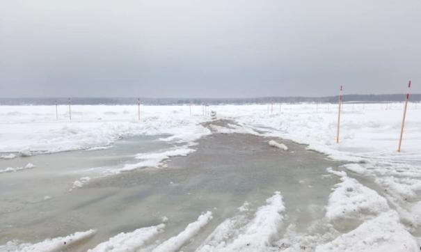 Спасатели запретили проезд по ледовым переправам в Новосибирской области