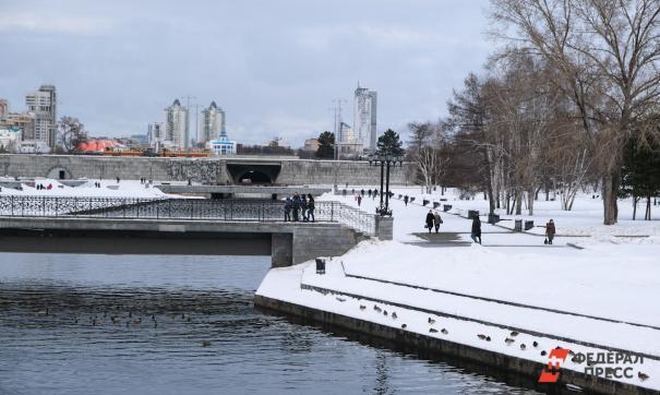 набережная пруда в Екатеринбурге