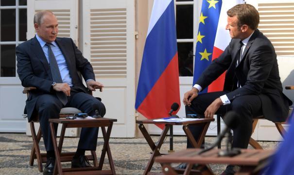 Макрон сообщил Путину о поддержке стран ЕС после высылки дипломатов