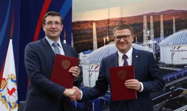 На встрече в Челябинской области нижегородский губернатор Глеб Никитин подписал соглашение с Алексеем Текслером