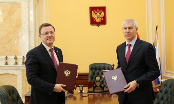 Губернатор Самарской области Дмитрий Азаров встретился с министром спорта России Олегом Матыциным