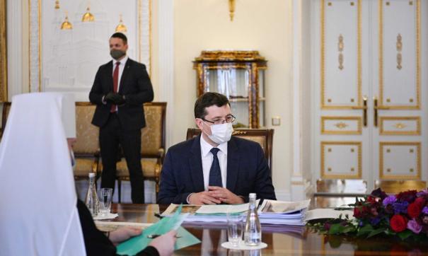 Глава региона вместе с митрополитом Нижегородским и Арзамасским Георгием посетили Патриарха Кирилла в Москве