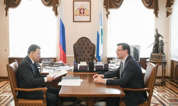 Глава Нижегородской области Глеб Никитин встретился со свердловским губернатором Евгением Куйвашевым