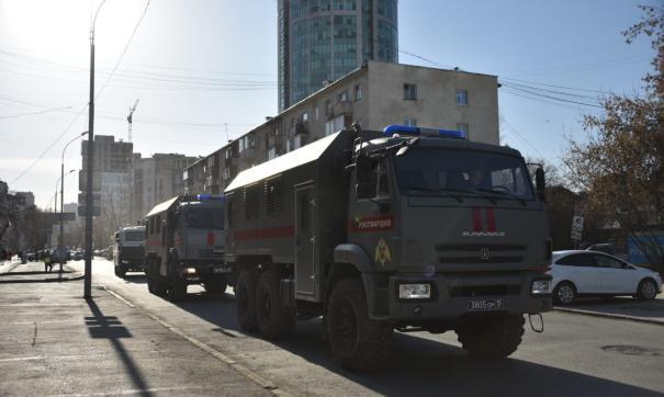 Силовики собираются в преддверии акции протеста
