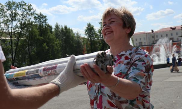 Жители Первоуральска принесли на переработку тонну мусора за два часа
