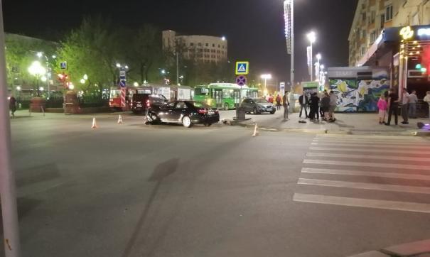 ДТП у Оперного театра в Екатеринбурге