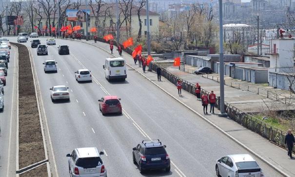 В Приморском крае провели парад в честь 1 мая