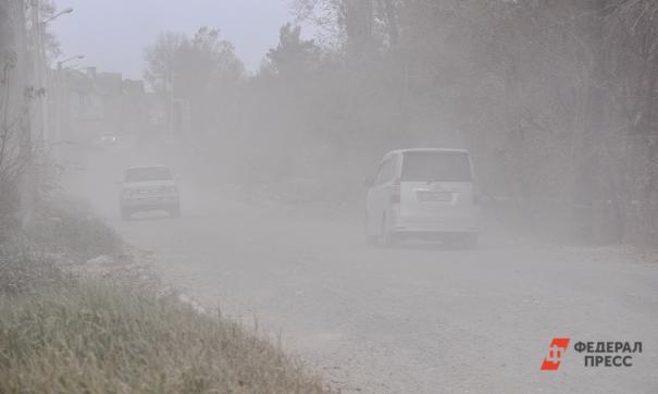 Новосибирск окутает пыль