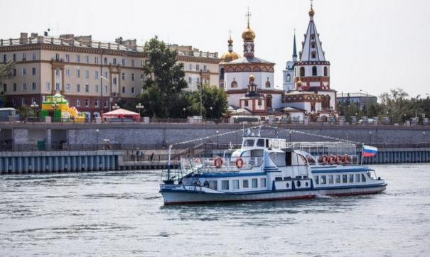 Началась работа речного трамвая в Иркутске