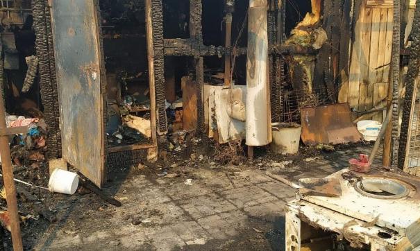 Владелица дома подозревает в поджоге местных жителей