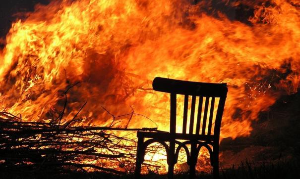 В момент пожара дети остались без присмотра