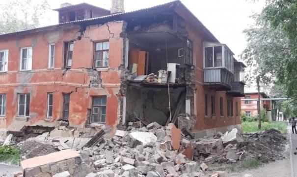 Обрушение стены произошло рано утром в Челябинске