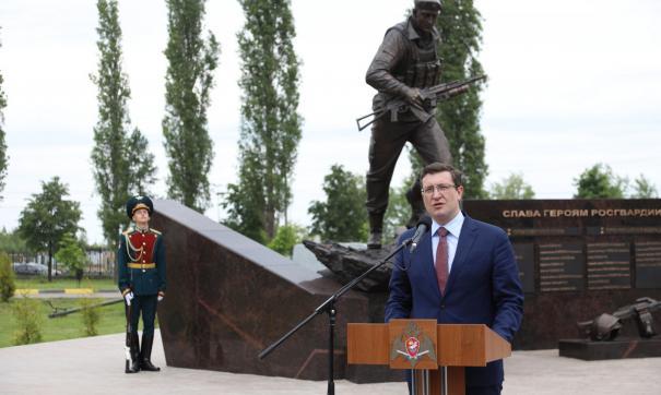 В торжественной церемонии открытия монумента принял участие глава региона Глеб Никитин