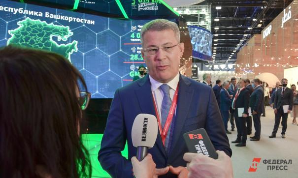 Глава Башкортостана, как и практически все региональные лидеры, принимает участие в ПМЭФ-2021