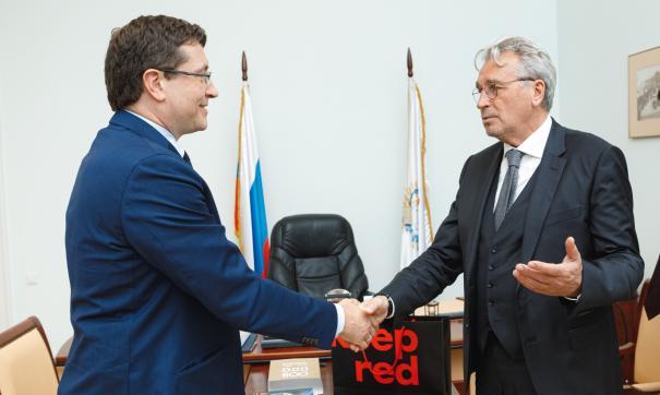 Глава региона Глеб Никитин подписал соглашение с президентом банка Олегом Сысуевым