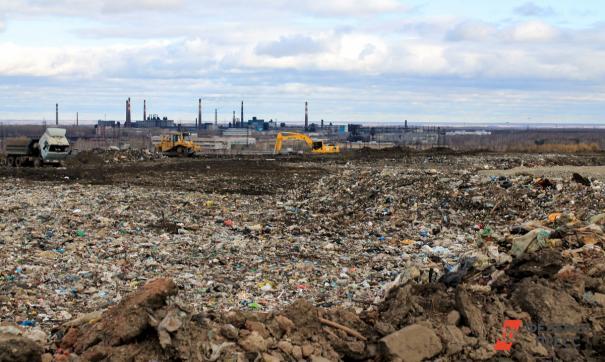 Сильный пожар произошел на мусорном полигоне в селе Черкассы