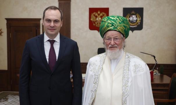 Артем Здунов обсудил важные темы с Верховным муфтием РФ Талгатом Таджуддином