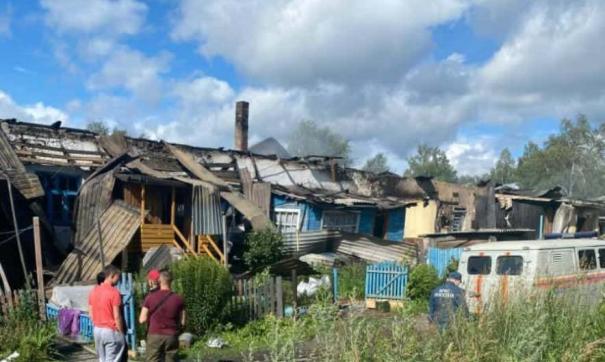 Погорельцам из Анжеро-Судженска нашли временное жилье