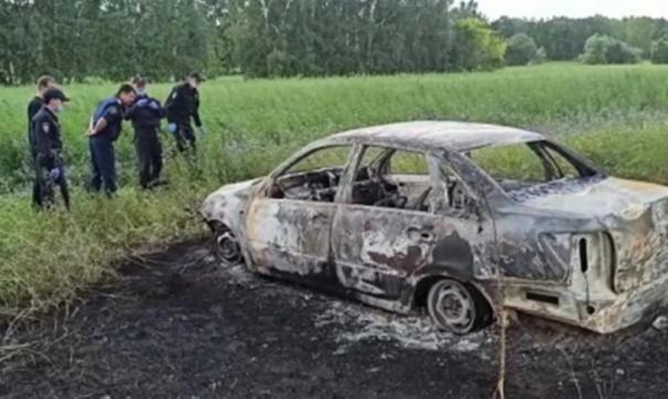 Сегодня утром сотрудники ДПС нашли тело участкового и сгоревшую машину
