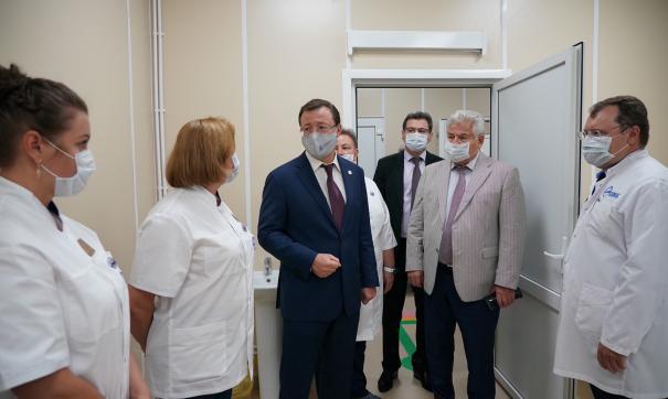 Дмитрий Азаров открыл новый ковид-госпиталь в Самаре