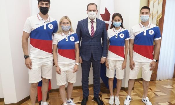 Врио главы республики Артем Здунов встретился с участниками XXXII летних Олимпийских игр