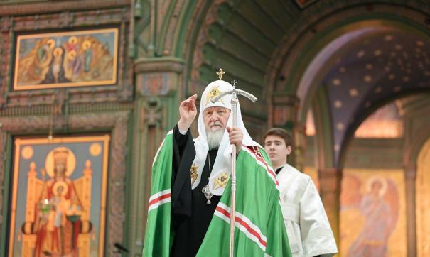 Патриарх прибыл со специальным визитом в Казань, чтобы освятить восстановленный храм