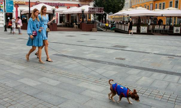 Женщины гуляют по Большой Покровской