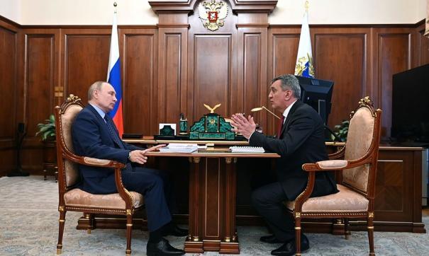 Путин и Меняйло