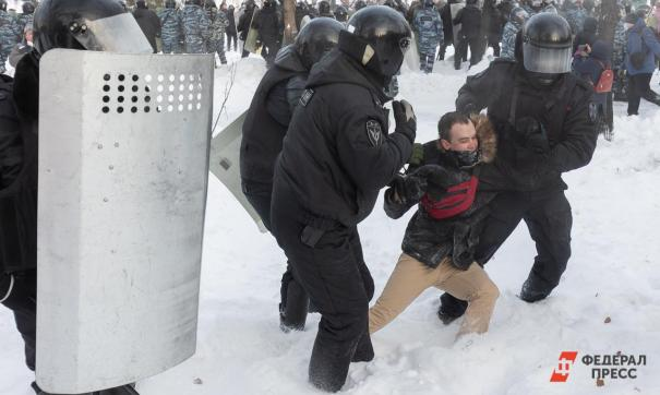 Коньков и Кудрин были задержаны на зимнем митинге после агрессии в сторону силовиков