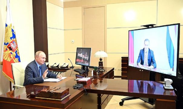Владимир Путин провел встречу с Артемом Здуновым