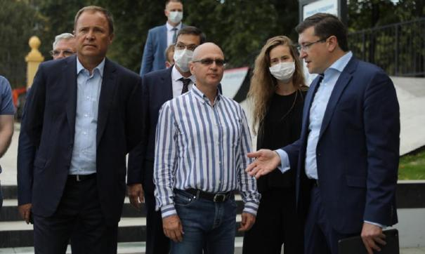 Кириенко, Комаров и Никитин проверили готовность парка Швейцария
