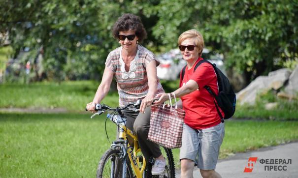 Пенсиоенрки на велосипеде