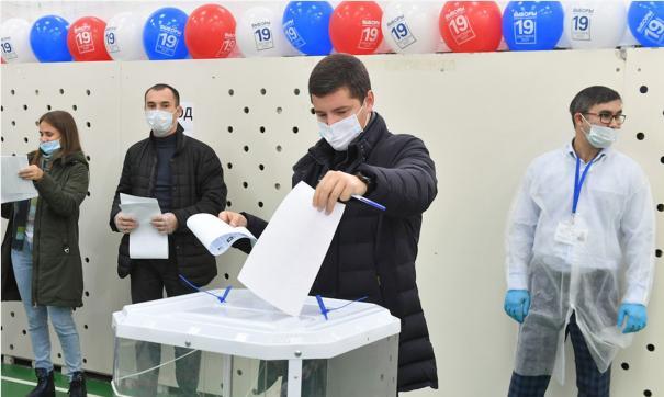 Дмитрий Артюхов проголосовал утром 17 сентября