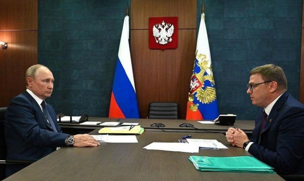Путина попросили о дороге во время его визита в Магнитогорск