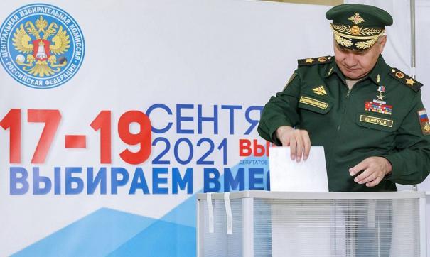 Министр обороны отдал свой голос на выборах