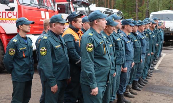 К тушению пожаров были привлечены спасатели  из многих регионов ПФО