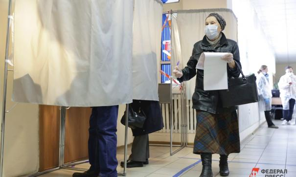 Избиратель голосует