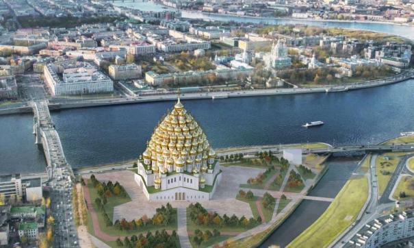 Проект храма на Охтинском мысу