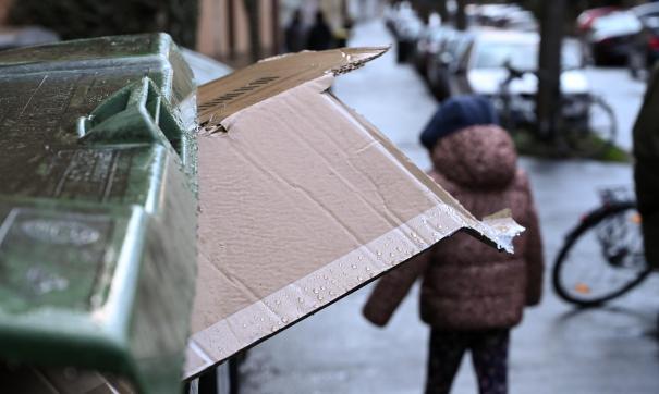 Некоторые жители доносят мусор до контейнерной площадки